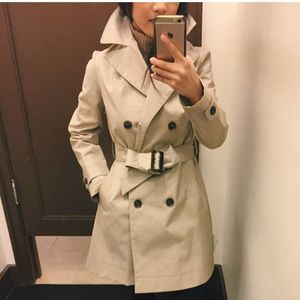 Banana Republic tan brown trench coat jacket S